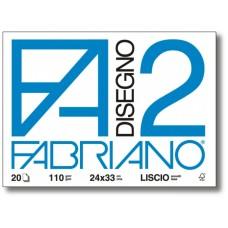 FABRIANO F2 ALBUM DISEGNO  24X33  RUVIDO