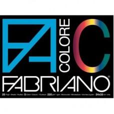 FABRIANO ALBUM DISEGNO COLORI ASSORTITI 33 X 48 CM X 25 FF 220 G/MQ