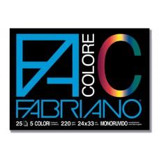 FABRIANO F4 COLOR BLOCCO 25FG.DISEGNO 33X24 CF.5 BLOCCHI COLORATI