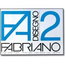 FABRIANO ALBUM DISEGNO F2 24X33 RUVIDO PUNTO METALLICO