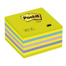 3M 2028NB POST-IT CUBO VERDE NEON - 5 COLORI ASSORTITI