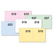 BLOCCHI LOTTERIA SERIE 1-1000 CF.40 BLOCCHI 4 COLORI