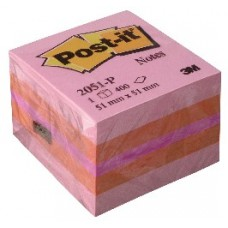 3M 2051P POST-IT MINI CUBO ROSA 51X51