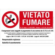VIETATO FUMARE LUOGHI ACCESSO CONF.10PZ.