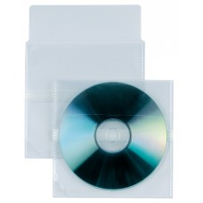 SEI - BUSTA TRASP.PORTA CD/DVD IN PP LISCIO CON PATELLA DI CHIUSURA 25 PZ