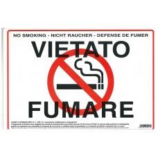 CARTELLO VIETATO FUMARE 315/11