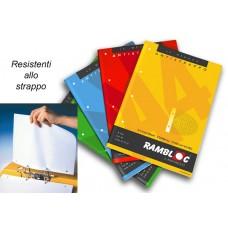 RAMBLOC QUADERNO CON FORI RINFORZATO 40FF 21X30 (A4) -5M- CONF.4