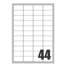 SCATOLA 4400 ETICHETTE X LASER 47,5X25,5