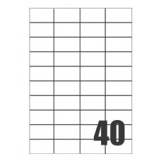 SCATOLA 4000 ETICHETTE X LASER 52X30