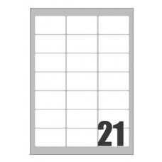 SCATOLA 2100 ETICHETTE X LASER 63,5X38