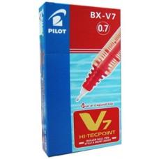 PILOT HI/TECPOINT V7 ROLLER CONF.12 PEZZI ROSSO