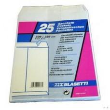 BUSTA BIANCA A SACCO C/STRIP 25X35