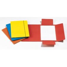 CARTELLE 3L CON ELASTICO PLASTIFICATO 17X25 CONF.10 PEZZI AZZURRO