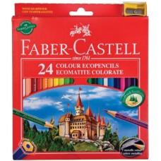 FABER CASTELL MATITE RED RANGE 24 PASTELLI CON TEMPERINO OMAGGIO