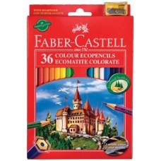 FABER CASTELL MATITE RED RANGE 36 PASTELLI CON TEMPERINO OMAGGIO