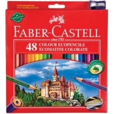 FABER CASTELL MATITE RED RANGE 48 PASTELLI CON TEMPERINO OMAGGIO