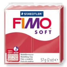 FIMO SOFT PASTA X MODELLARE PANETTO 57GR. ROSSO CILIEGIA