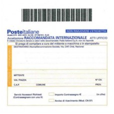 MODULO ACCETTAZIONE RACCOMANDATE INTERNAZIONALI - CONF.20 PEZZI