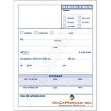 BLOCCO PERMESSO USCITA 100FG CONF.5 BLOCCHI