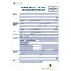 DICHIARAZIONE INTENTO MANUALE CONF.25 MODELLI