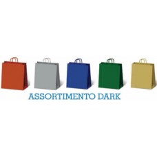 BORSA SHOPPER KRAFT ASSORTITE DARK 22X10X27 CONF.25 BORSE