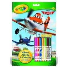ALBUM ATTIVITA COLOURING DISNEY PLANES CRAYOLA