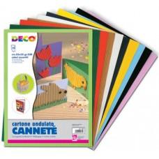 CWR CARTONCINO CANNETE 50*70 BUSTA 10 CARTONCINI COLORI ASSORTITI