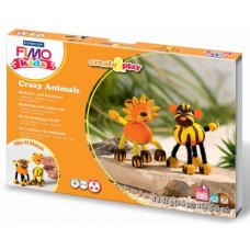 FIMO-KIDS CREATE AND PLAY CRAZY ANIMALS LEONE E TIGRE