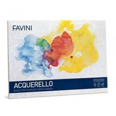FAVINI BLOCCO ACQUERELLO 25X35 10FG. 340 GR.