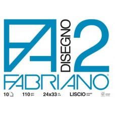 FABRIANO ALBUM DISEGNO F2 24X33 10 FG.ALBUM LISCIO