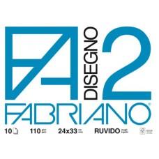 FABRIANO ALBUM DISEGNO F2 24X33 10 FG.- CF.10 ALBUM - RUVIDO
