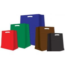 BORSA SHOPPER  MANICO A FAGIOLO COLORI ASSORTITI  200 PZ. CM. 35X60X5