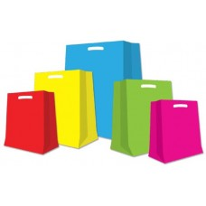 BORSA SHOPPER  MANICO A FAGIOLO COLORI ASSORTITI  200 PZ. CM. 35X50X6 6