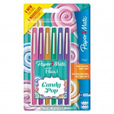 PAPERMATE NYLON FLAIR CANDY POP BLISTER 6 COLORI