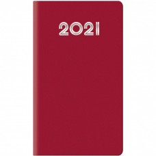 AGENDA SETTIMANALE 2021 GOMMATO ROSSO 8X14