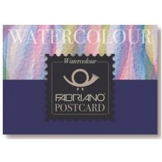 FABRIANO WATERCOLOUR ACQUARELLO POSTCARD BLOCCO 20FF 10,5*14,8 300GR.