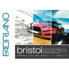 FABRIANO BRISTOL BLOCCO COLLATO A3 LISCIO 20FF. 250GR.