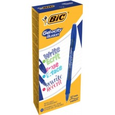 BIC GEL-OCITY ILLUSION PENNA CANCELLABILE CF.12 BLU