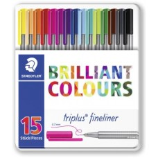 STAEDTLER TRIPLUS FINELINER CF.15 COLORI BRILLANTI ASSORTITI