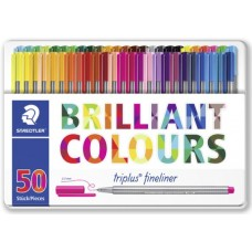 STAEDTLER TRIPLUS FINELINER CF.50 COLORI BRILLANTI ASSORTITI