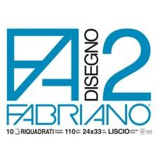 FABRIANO ALBUM DISEGNO F2 24X33 10 FG.- CF.10 ALBUM LISCIO/RIQUADRATO