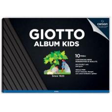 GIOTTO ALBUM KIDS A4 CARTA NERA 10FF 220GR