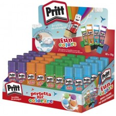 PRITT STICK FUN COLORS 10GR DISPLAY 40 PZ (10X4 COLORI)