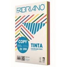 FABRIANO COPY TINTA A4 200GR CARTONCINO 5 COLORI FORTI 100FF