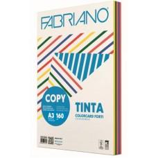 FABRIANO COPY TINTA A3 160GR CARTONCINO 5 COLORI FORTI 100FF