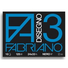 FABRIANO ALBUM DISEGNO 3 NERO 24X33 125GR 10FG