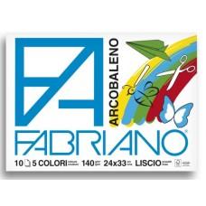 FABRIANO ALBUM ARCOBALENO 24X33 140GR 10FG PUNTO METALLICO CF.10 ALBUM