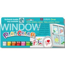 PLAYCOLOR TEMPERA SOLIDA WINDOW ONE 12 COL.ASS.10GR.