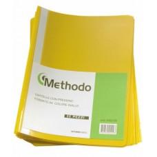 METHODO CARTELLA CON PRESSINO 22*33 - CF.25 CARTELLE GIALLO