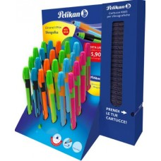 PELIKAN SFEROGRAFICA GRAND PRIX DISPLAY 24 PENNE CON CARTUCCE